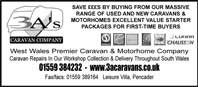 massive range of used and new caravans and motorhomes