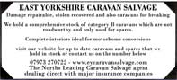 Caravan salvage - caravans stocked and used for spares