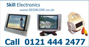 televisions for boats and caravans. vehicle reversing systems