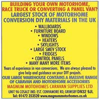 Largest stock of motorhome DIY materials
